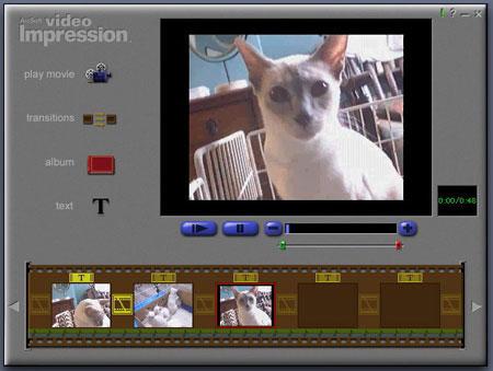 Screenshot: Video Impression Editing