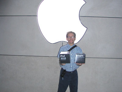Photo: Dave with iPod and iSight