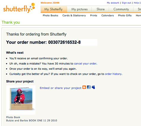 Shutterfly Online Card And Book Printing Service Nemo Memo Mymac Com
