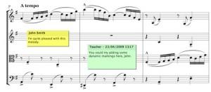 Comments in Sibelius 6