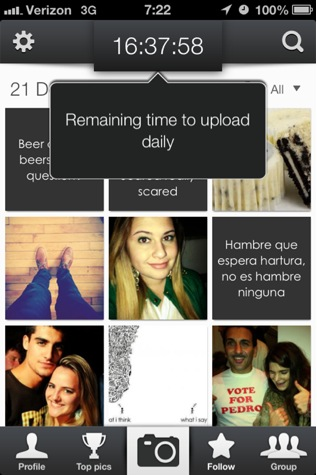 PicIT24 screenshot of main photo/quote grid