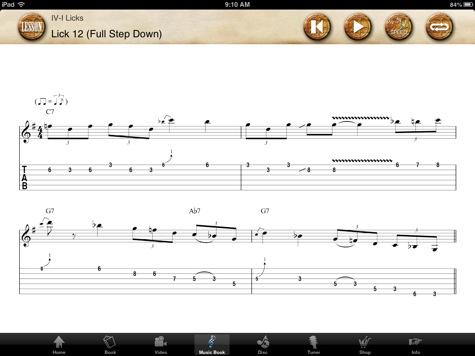 Johnny Winter app sheet music screen