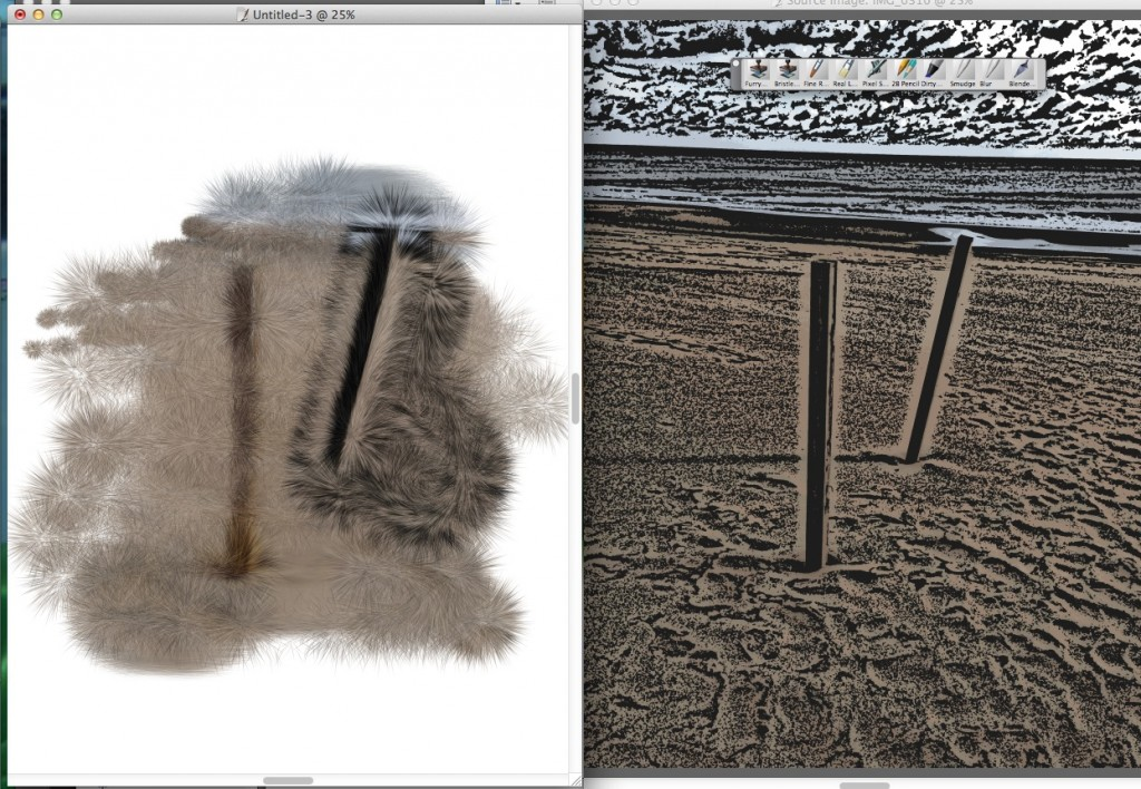 Image on the right is a modified photo being cloned on the left