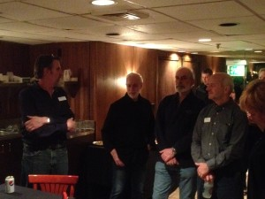 Pete, Arnie, Rick, and Harvey say thank you to current and former staff.