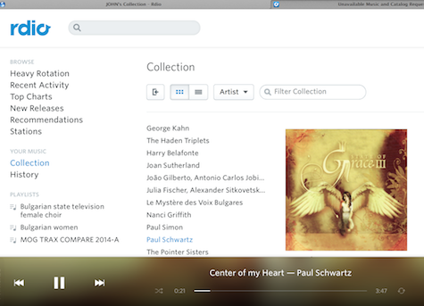 Rdio Browser