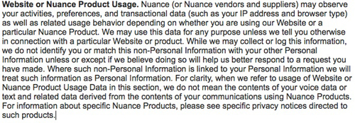 Website or Product Usage