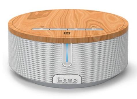 iHome audio speaker wood top