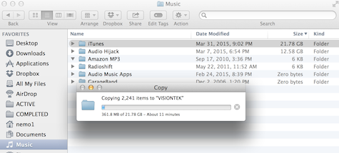 iTunes copying