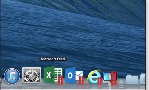 Windows docked