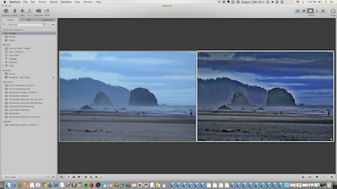 side by side Cannon Beach after Tonality copy