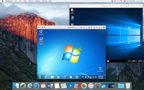 Win 7 & 10 on El Capitan
