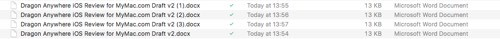 Filenames in Google Drive Mac