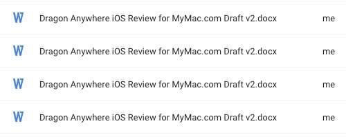 Filenames in Google Drive Safari