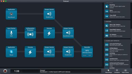 Podcast audio hijack setup