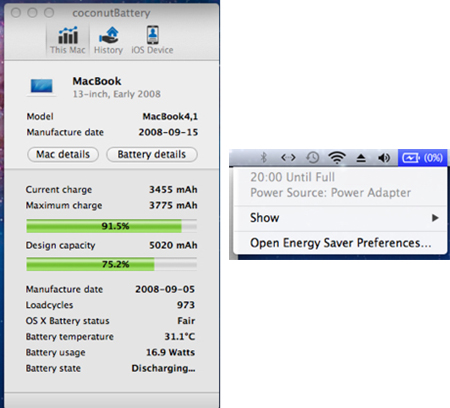 The poor tired old battery performance
