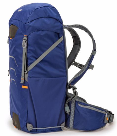 blue pack sideways