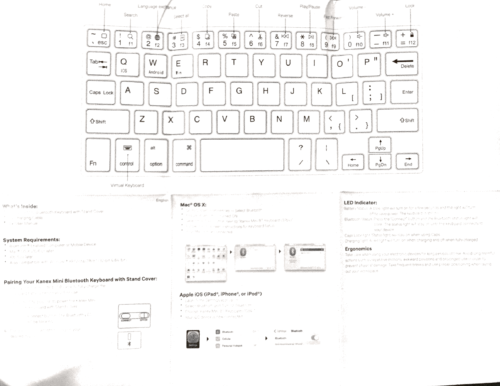 Kanex Mini Keyboard docs