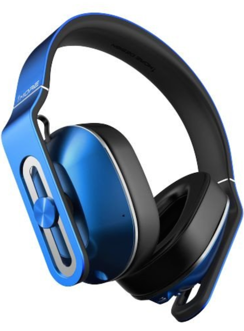 blue 1more headphones